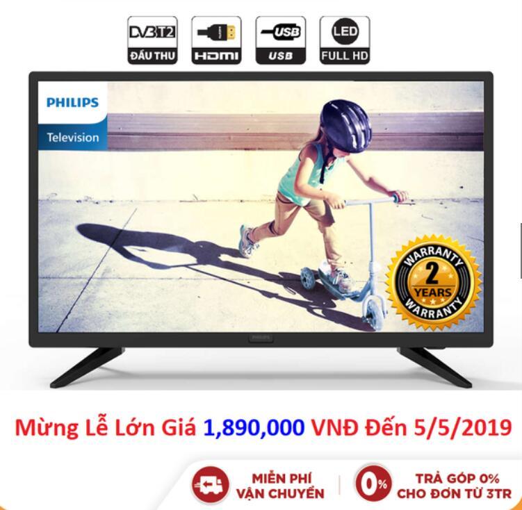 Tivi LED Philips 24 Inch HD - 24PHT4003S/74 - Chính Hãng Phân Phối
