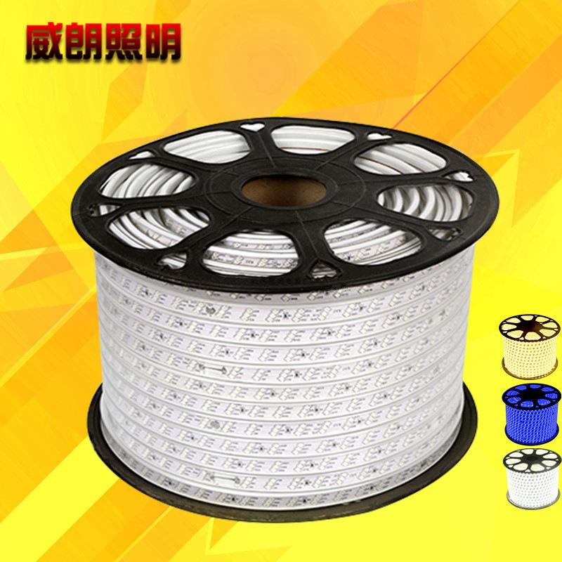 Đèn LED dây Dây đồng 5050LED dải ánh sáng Điện áp cao 2835 Patch RGB không thấm nước 57 30 dải ánh s