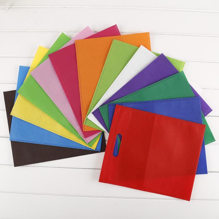 Túi vải không dệt Tại chỗ bán buôn túi không dệt tùy chỉnh sáng tạo màu xanh lá cây mua sắm túi phẳn