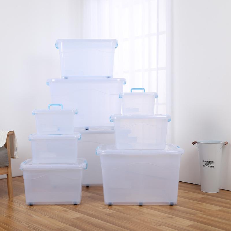 SHENGJIE Thùng nhựa Hộp lưu trữ quần áo lớn hơn hộp lưu trữ đồ chơi với hộp lưu trữ ròng rọc