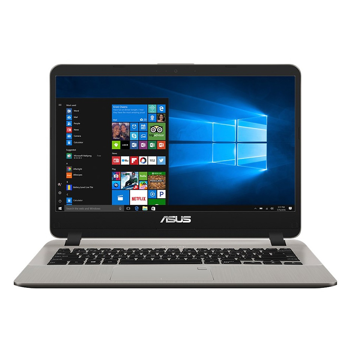 Asus   Máy tính xách tay - Laptop  Laptop Asus Vivobook X407UB-BV147T Core i7-8550U/Win10 (14 inch)