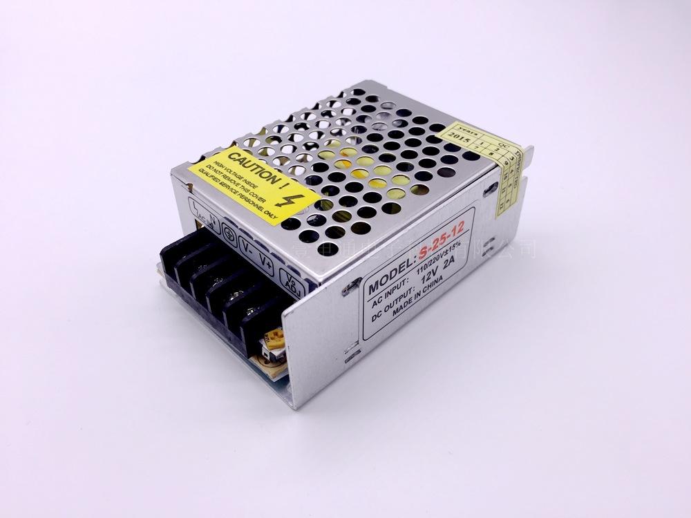 HAOWANGDA Bộ nguồn cho đèn LED Bộ nguồn chuyển mạch 12V2A Bộ nguồn 12 V 25W Đèn LED giám sát nguồn c