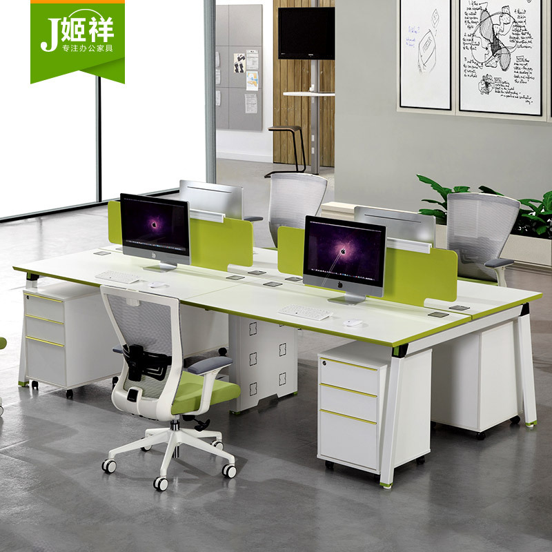 JIXAING Thị trường nội thất văn phòng Bàn ghế nhân viên văn phòng vị trí bàn làm việc 4 - 6 người kh