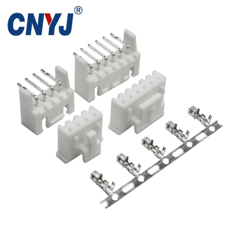 CNYJ Giắc cắm Đầu nối đầu nối XHD2.54 với khóa khóa định vị kim cong 2-16PIN chịu nhiệt độ cao với F