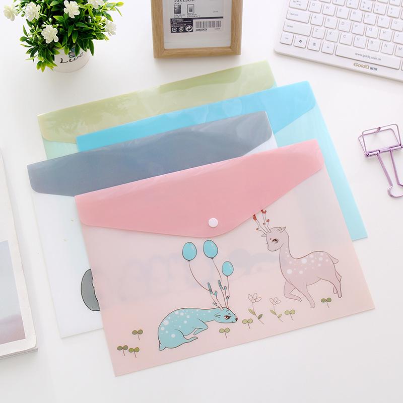 Bìa nhựa PVC đựng giấy tờ hình phim hoạt hình động vật dễ thương
