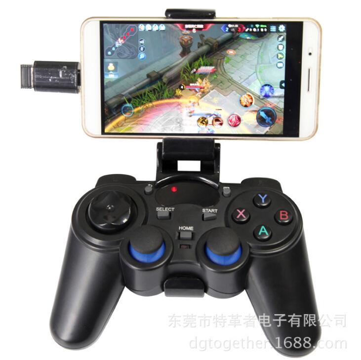 GOTOGETHER Tay cầm chơi game Người chơi cầm dây da đặc biệt Smart TV trò chơi cầm điện thoại Android