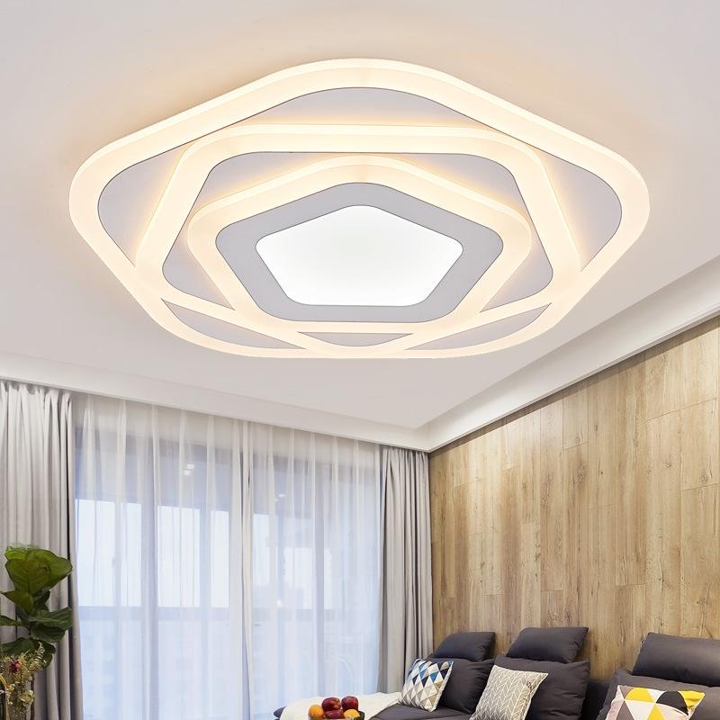 HSUANTO Thị trường chuyên phân phối LED Đèn phòng ngủ siêu mỏng đa giác ấm led đèn trần đơn giản phò