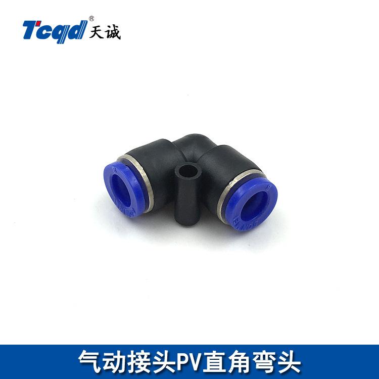 TIANCHENG Linh kiện khí nén Khớp khuỷu tay bằng nhựa PV-4 6 8 10 12 14 16 Tiếp quản góc phải