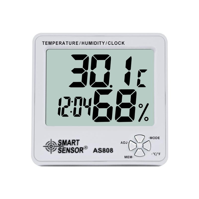 Xima Đồng hồ đo nhiệt độ , độ ẩm điện tử hiển thị kỹ thuật số nhiệt độ và độ ẩm nhiệt kế hộ gia đình