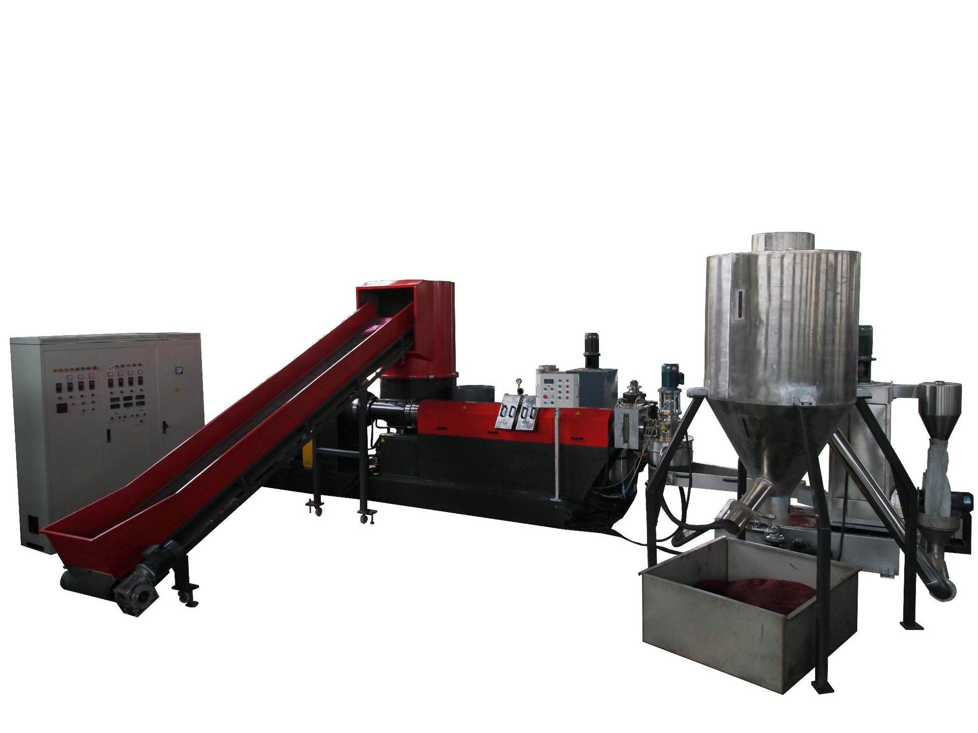 TURUI Nhựa phế liệu Máy tạo hạt nhựa đơn vít hạt nhựa PPPE nước thải vòng nhựa máy khử nước hạt