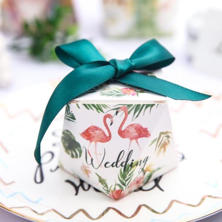 QIUSHAN hộp quà tiệc cưới Châu Âu Sen sáng tạo kim cương hộp kẹo đám cưới đám cưới hộp kẹo đám cưới