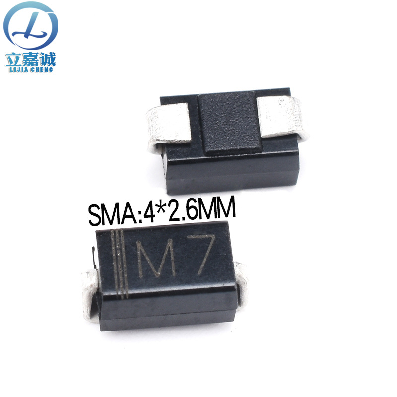 KAIXINAGXIN Điốt bán dẫn Chip chỉnh lưu Diode 1N4007 In màn hình M7 SMA / DO-214AC Ưu điểm Spot thân
