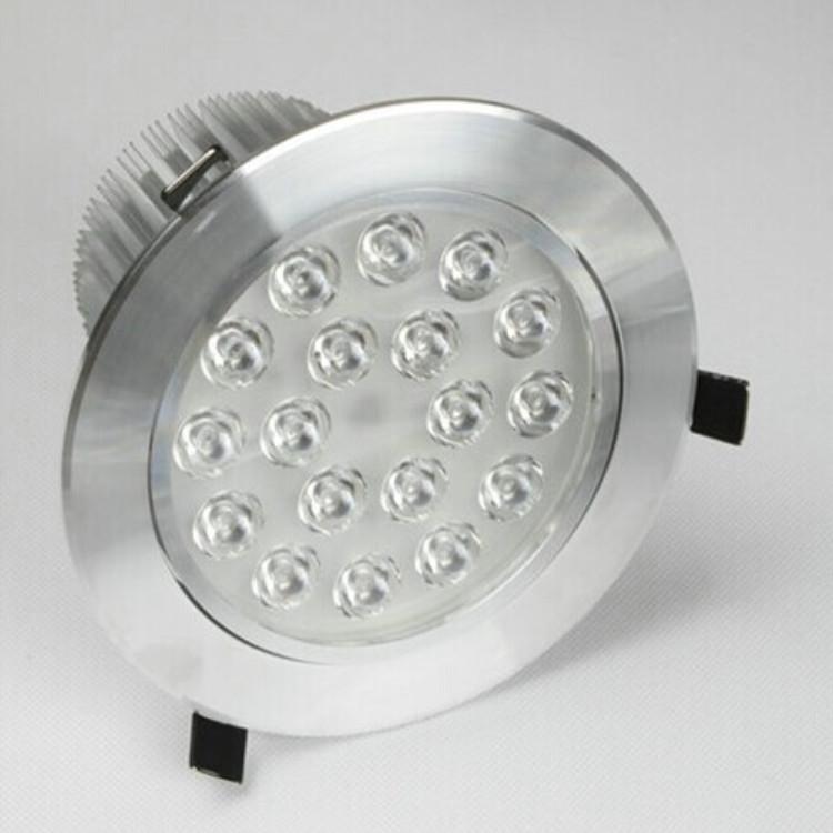 LINGLINGQI Đèn âm trần bộ Bộ vỏ 15W 18W Bộ đèn trần LDE đèn trần nhà ở cao Đèn trần nhà ở có độ bóng