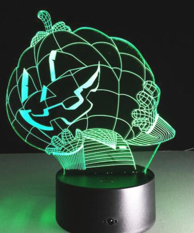 Đèn Bàn 3D Chiếu Ánh Sáng Hình Bí Ngô Độc Đáo