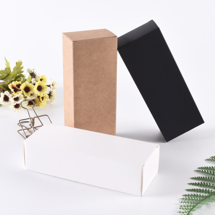 FENGLI Hộp giấy bao bì Trắng bìa cứng phổ màu hộp trà vớ giấy kraft mua sắm hộp quà tặng tùy chỉnh
