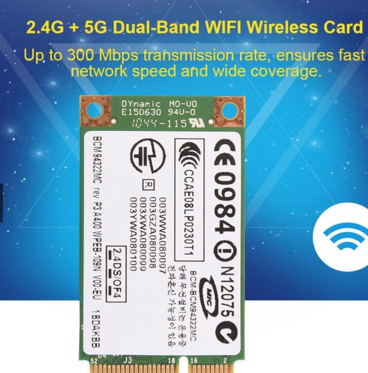 Card mạng 3G/4G Card Wifi Không Dây 2.4G + 5G PCI-E Cho Mac / DELL