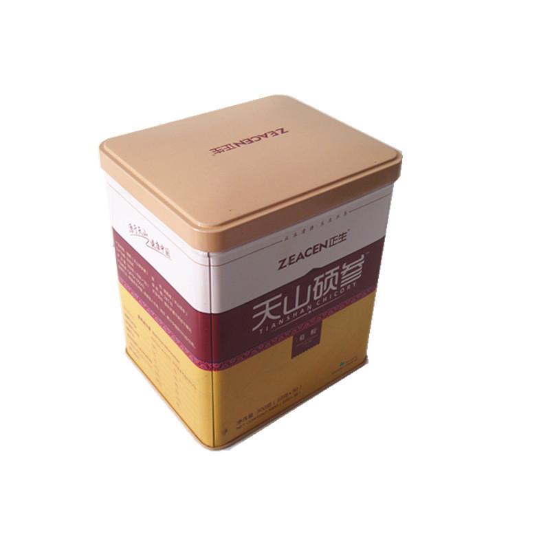 Hũ kim loại Các nhà sản xuất vàng cung cấp hộp kim loại inulin hình chữ nhật có thể được tùy chỉnh c