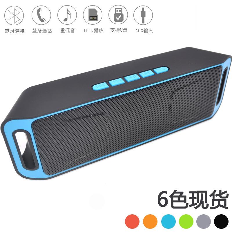 TOPDCY Loa SC208 Loa không dây Bluetooth Thẻ di động Loa kép Mini Cannon Audio Điện thoại di động Lo