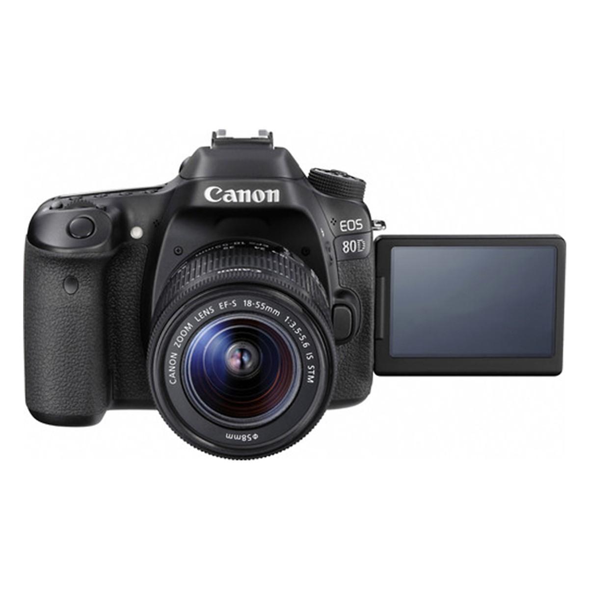 Canon   Máy ảnh kỹ thuật số   Máy Ảnh Canon 80D + Lens 18-55mm