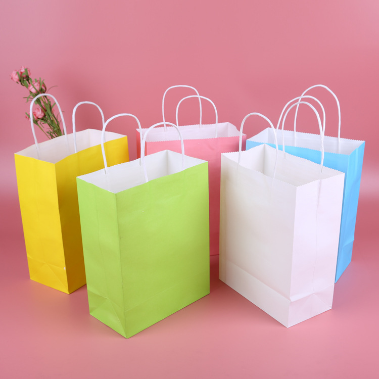 WENCAI Túi giấy Nguồn đóng gói trực tiếp bao bì túi giấy tùy chỉnh túi giấy kraft túi màu xanh lá câ