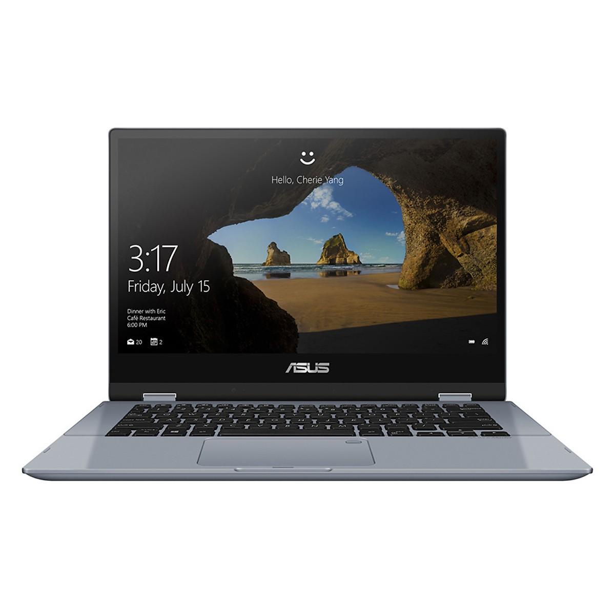 Asus   Máy tính xách tay - Laptop    Laptop Asus Vivobook Flip 14 TP412UA-EC101T Core i3-7020U/Win10