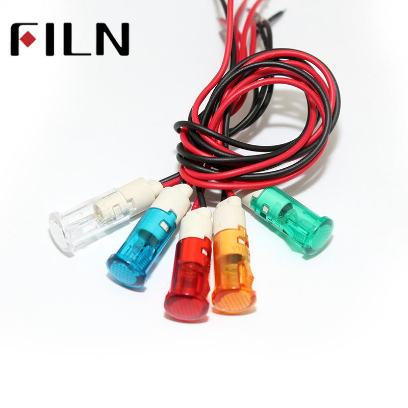 FILN Đèn tín hiệu 10 mm dải nhựa chỉ thị bong bóng