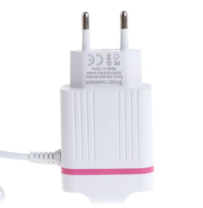 Đầu cắm sạc Củ Sạc 2 Cổng USB 5V 2.1A Đầu Cắm EU