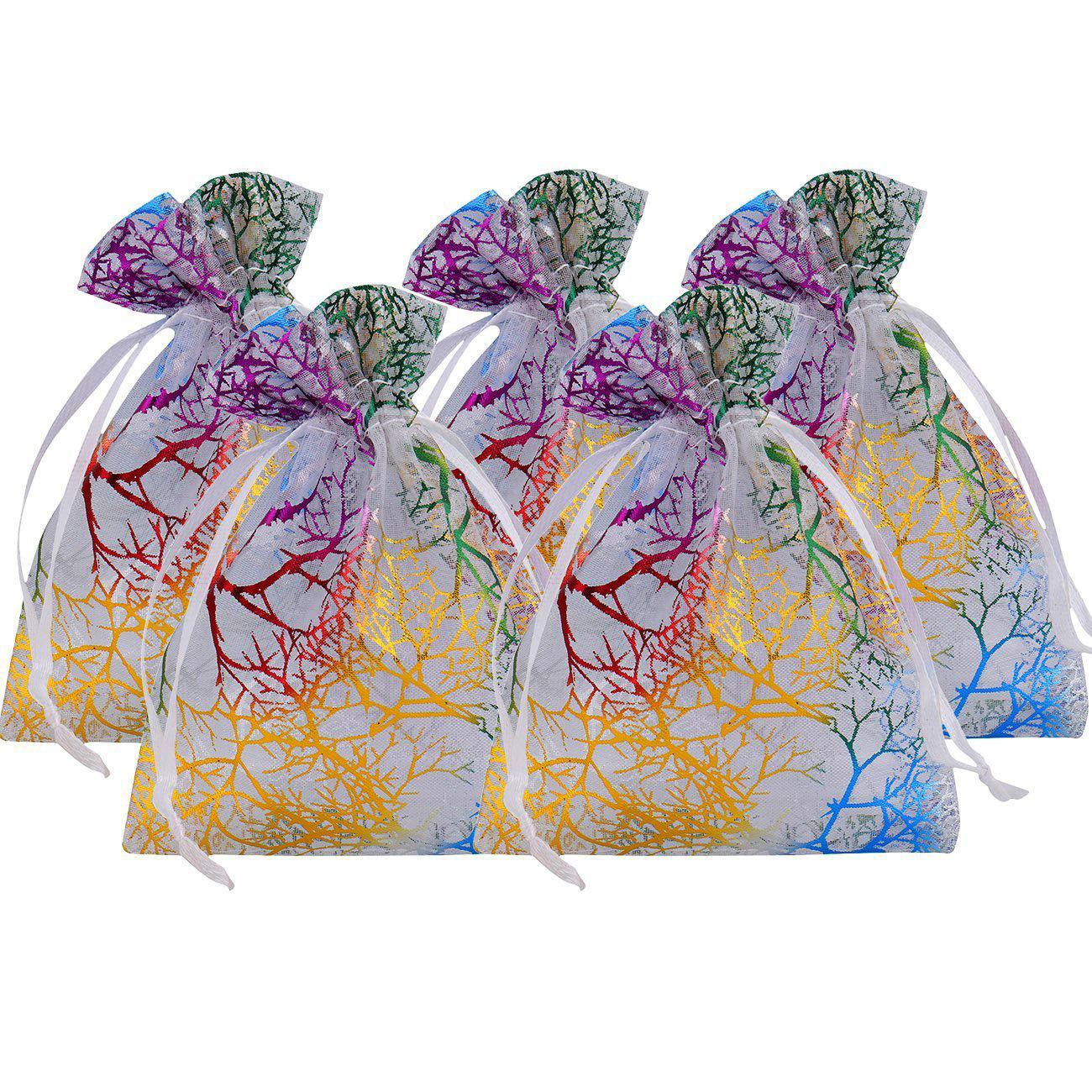 LANWAY LUCKY Túi đựng trang sức Túi quà tặng nhiều màu sắc san hô nhiều màu sắc / túi trang sức quà