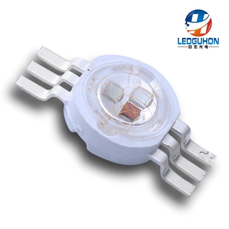 LEDGUHON Bóng đèn bi Giả đèn led công suất cao 3WRGB hạt sáu chân ba trong một đèn led hạt công suất