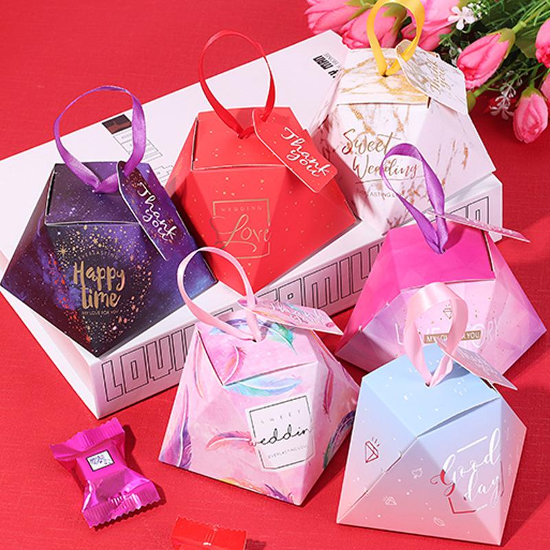 SENSU hộp quà tiệc cưới Hộp kẹo cưới cá tính sáng tạo thiệp cưới đám cưới hộp kẹo bao bì hộp quà tặn