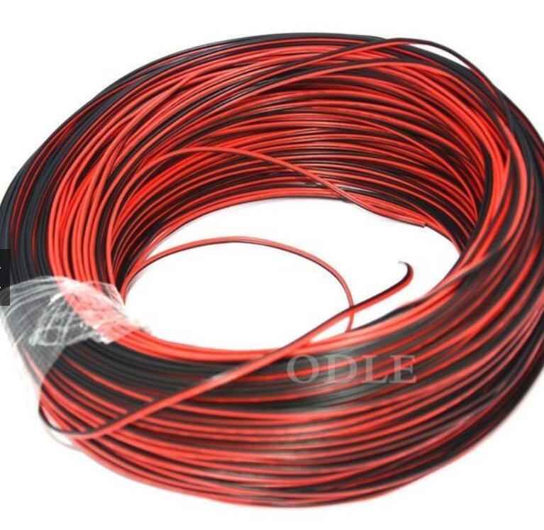 dây điện 100 Mét - Cuộn Dây Điện Đen Đỏ Lõi Nhỏ