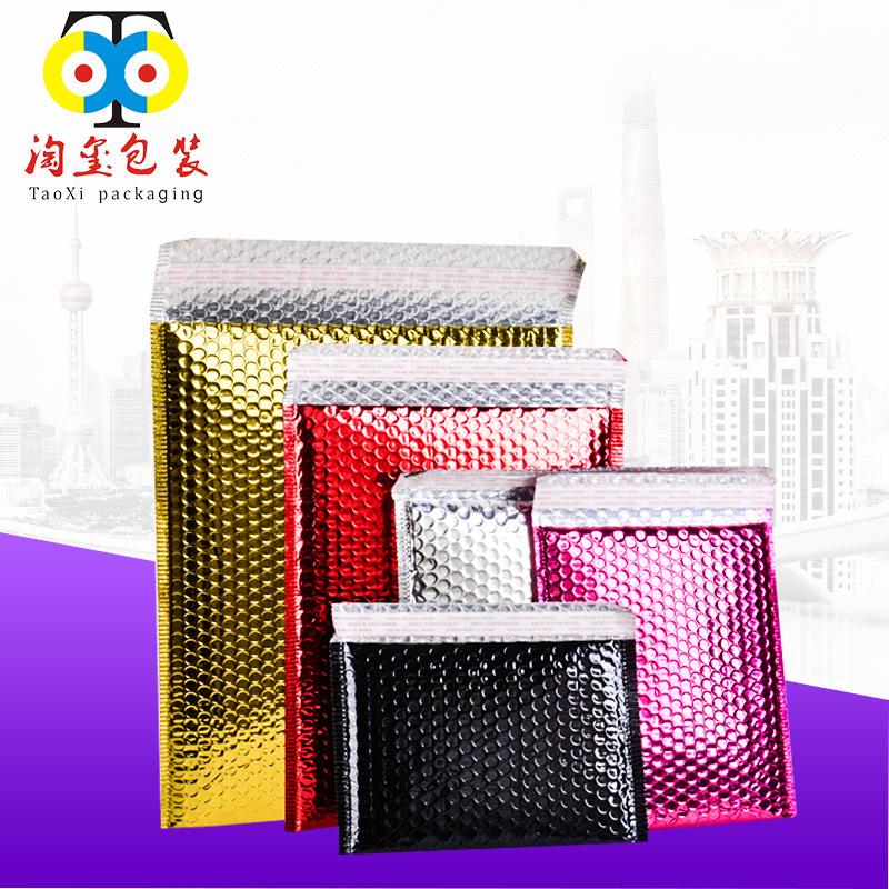 TAOXI bao thư chống sốc Bán buôn Aluminized Bubble Envel Bag Co-extruded Film Quần áo Ziplock Bag In