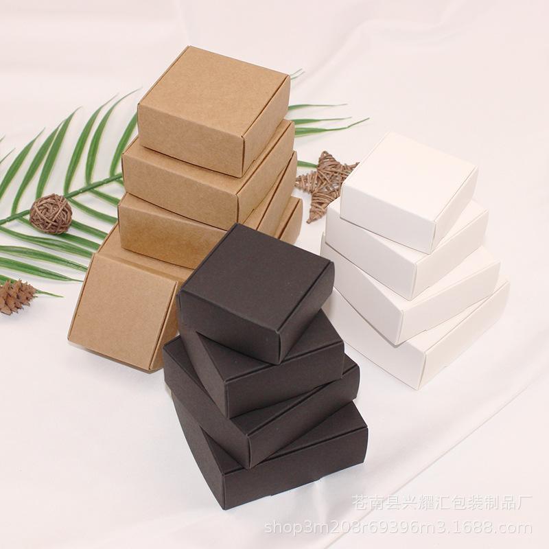 Hộp da Bán buôn giấy kraft hộp thủ công hộp xà phòng nhỏ đồ trang sức carton hộp quà tặng hộp máy ba