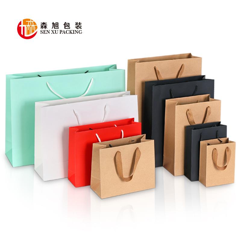 SENXUN Túi giấy Bán buôn túi giấy kraft dày tùy chỉnh quần áo túi quà tặng mua sắm giấy kraft nhà sả