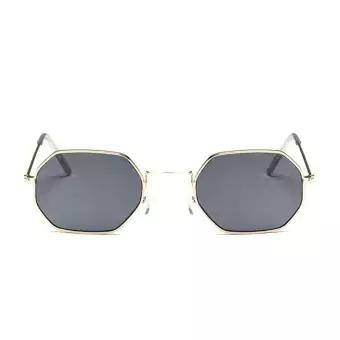 Kính bảo hộ Versea Metal Sunglasses Men Women Retro Square Sun Glasses Fashion Ocean Clear - intl