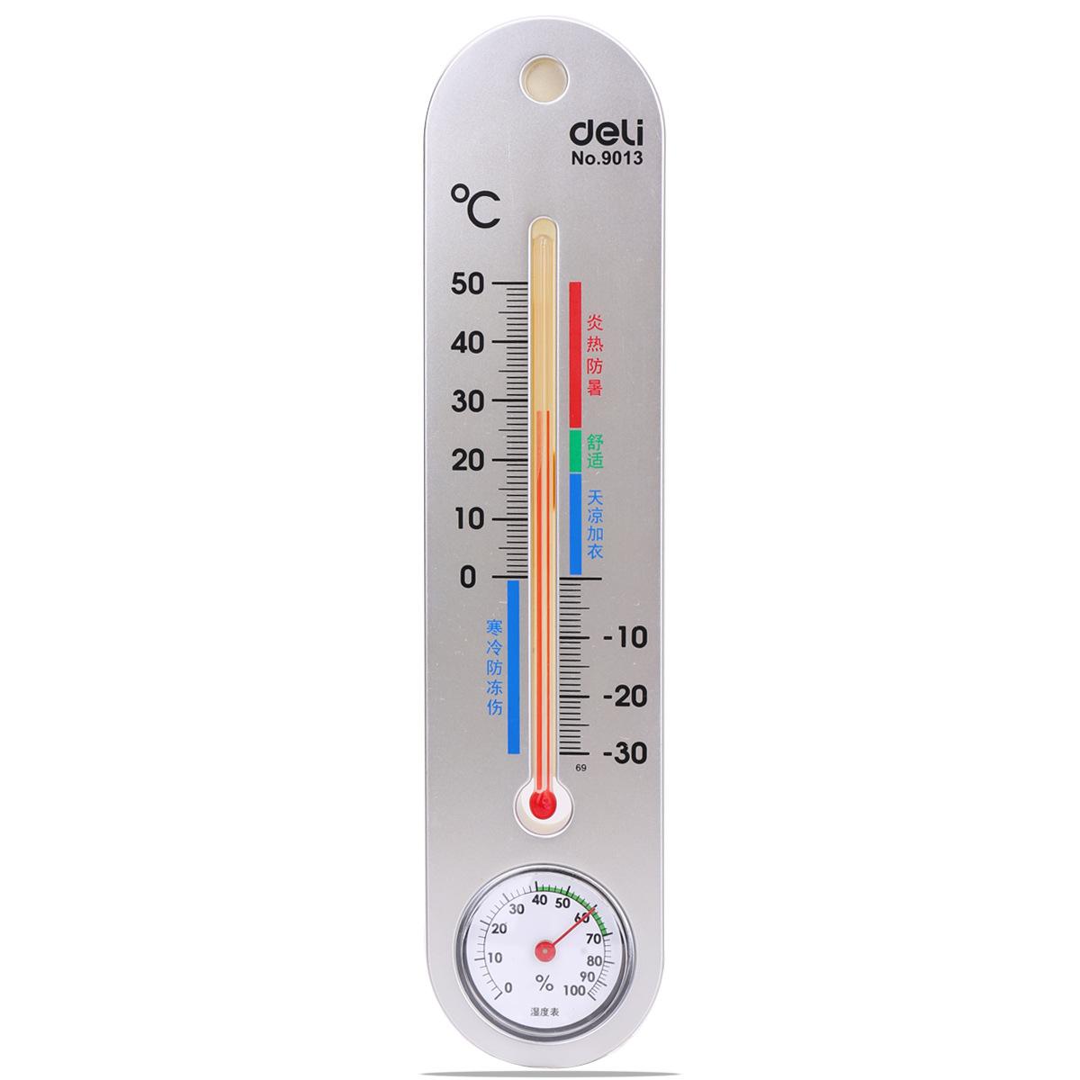 DELI Đồng hồ đo nhiệt độ , độ ẩm  Đồng hồ đo nhiệt độ và độ ẩm của Deli 9013 Nhiệt kế trong nhà và n