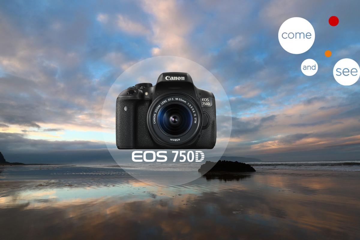 Canon   Máy ảnh kỹ thuật số  Máy Ảnh Canon 750D + Lens 18-55 IS STM (Lê Bảo Minh)