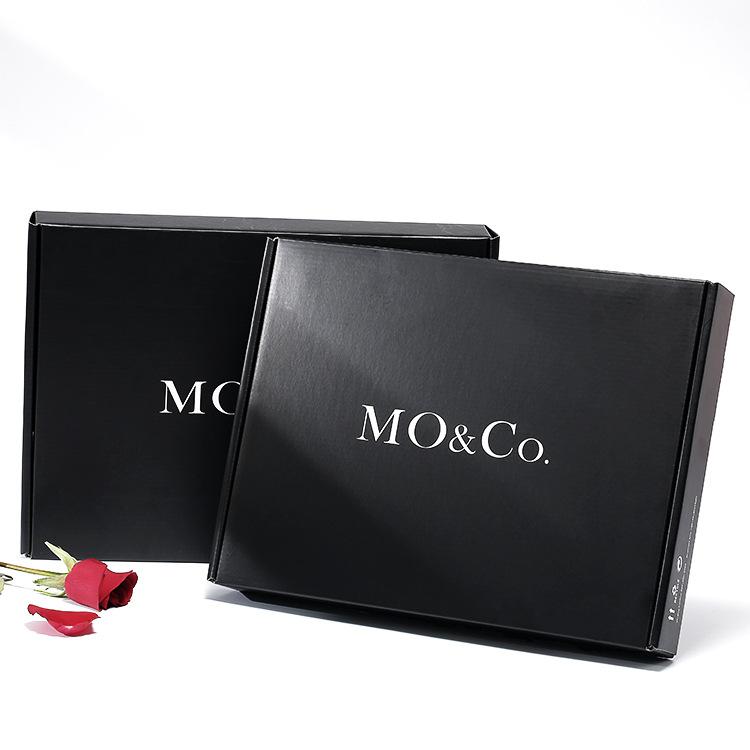 HONGTU Hộp giấy bao bì Bra hộp quần áo bao bì hộp tùy chỉnh cao cấp hộp máy bay màu đen đặc biệt cứn