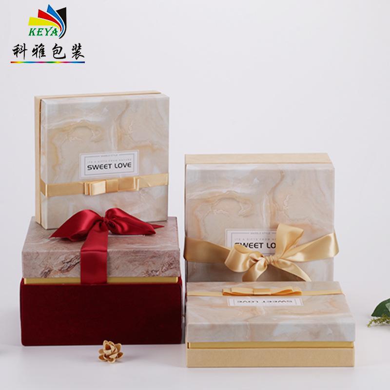 KEYA Thị trường bao bì khác / bao bì vải / bao bì giấy Keya mới nơ nhung hộp quà tặng Hộp đá cẩm thạ