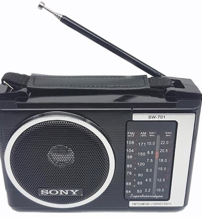 Máy Radio  Đài Radio Sony SW 701 TẶNG PIN VÀ DÂY CẮM ĐIỆN