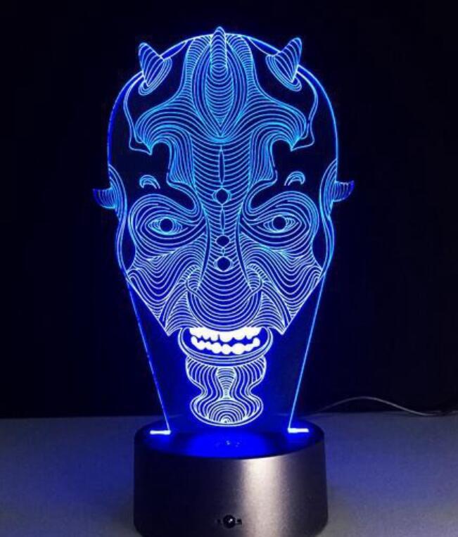 Đèn Bàn 3D Cảm Ứng 7 Màu C116