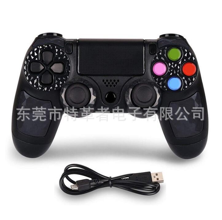 GOTOGETHER Tay cầm chơi game Áp dụng cho PS4 cầm PS4 phím Bluetooth không dây rung động chạm vào màn