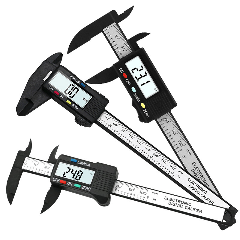 QST EXPRESS Dụng cụ đo lường Tốc độ đầy đủ điện tử hiển thị kỹ thuật số vernier caliper 0-100mm công