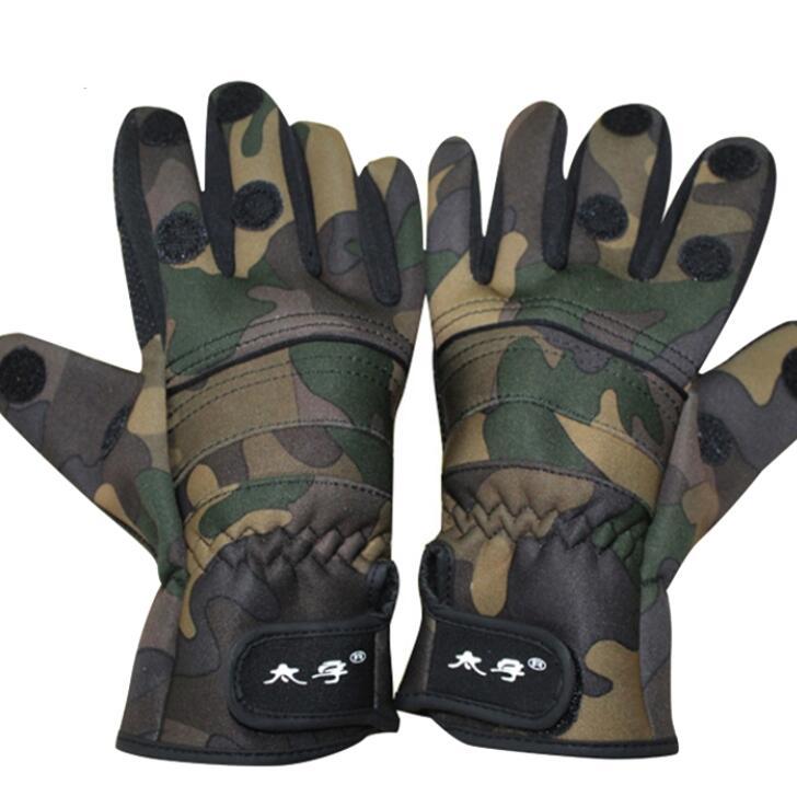 Găng tay chống cắt 1 Đôi Găng Tay Chống Trượt Cắt Ngón Tay Thời Trang Mùa Đông