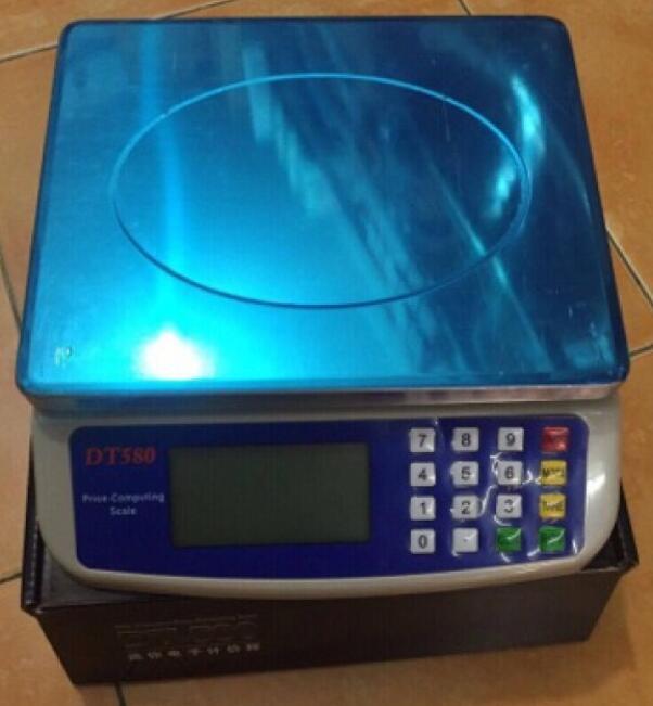 Cân Điện Tử Tính Tiền DT580 + Mặt Inox