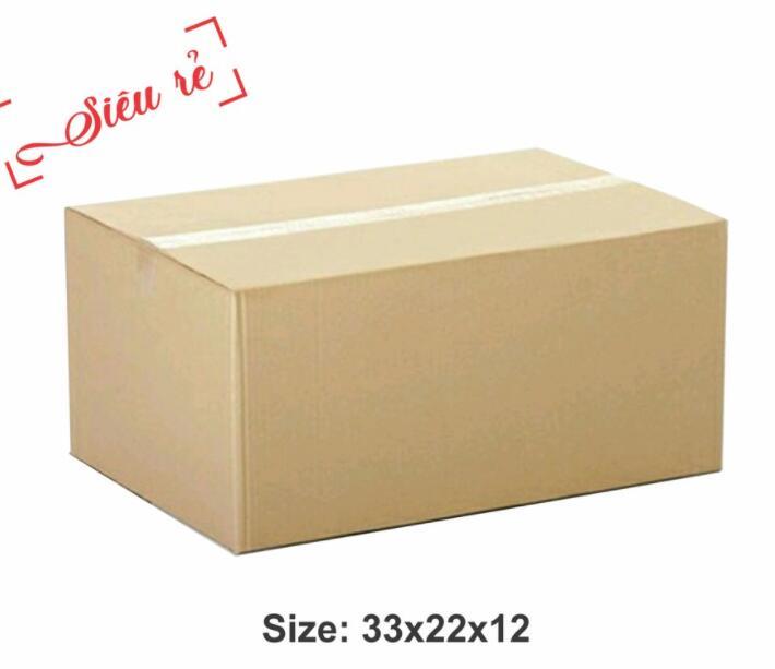 Thùng giấy Hộp Carton 33x22x12 - Thùng Giấy Carton Giá Rẻ