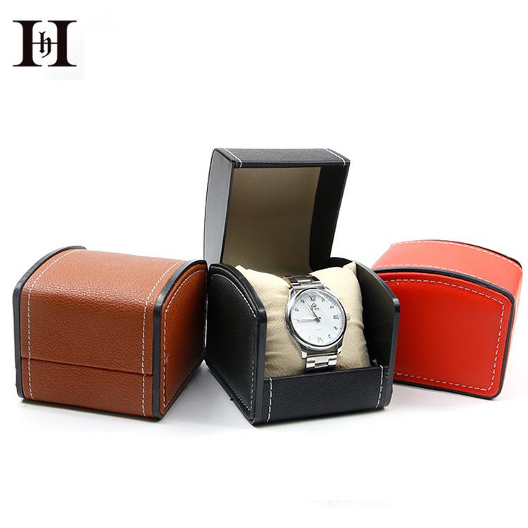 HANHONG Hộp da Hộp đồng hồ PU cao cấp dòng đồng hồ Flip da đồng hồ hiển thị hộp hộp Đồng hồ hộp lưu