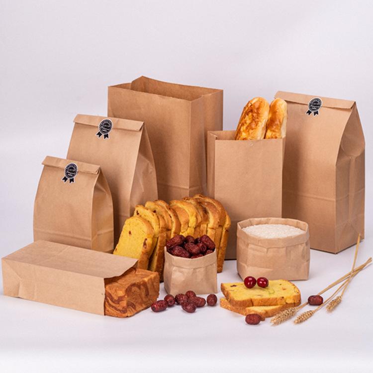 XIEXIJNGTúi giấy Giấy kraft tùy chỉnh bữa ăn sáng phổ biến West Point bao bì túi nướng bánh mì vuông