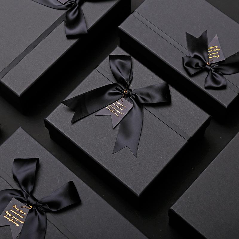 KAQISI Hộp quà tặng Hộp giấy kraft hộp quà tặng tùy chỉnh Quảng trường thế giới sáng tạo bao gồm hộp
