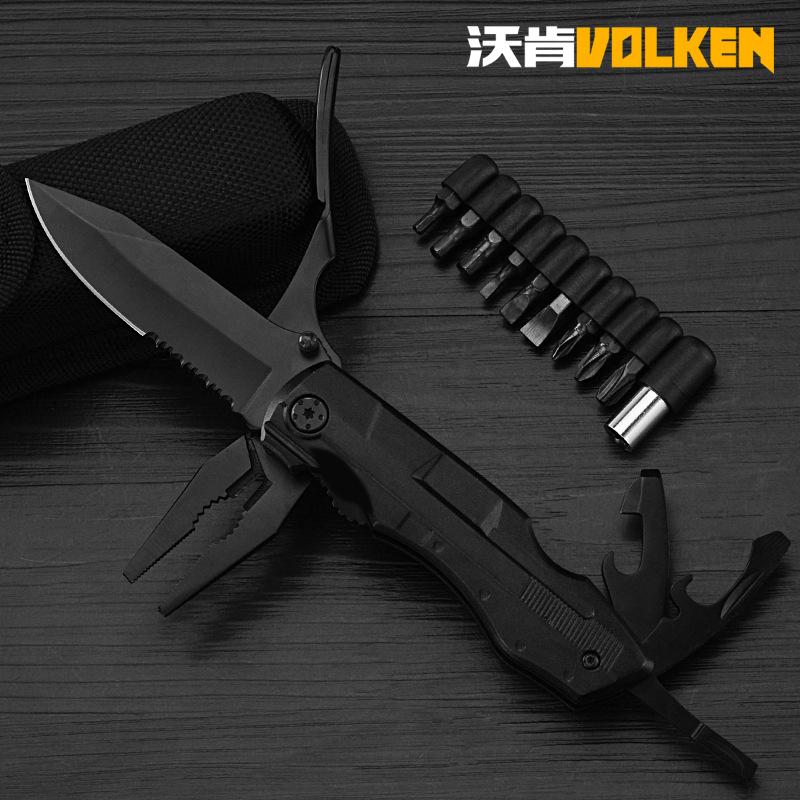 VOLKEN Bộ kềm dao đa năng Bán xuyên biên giới công cụ kết hợp EDC kìm đa chức năng dao kìm mới ngoài
